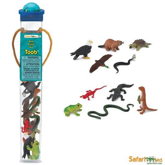 Safari Ltd 681804 zwierzęta żyjące nad rzeką w tubie