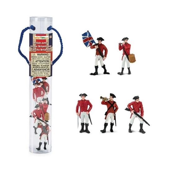 Safari Ltd 650404 żołnierze armii brytyjskiej w tubie
