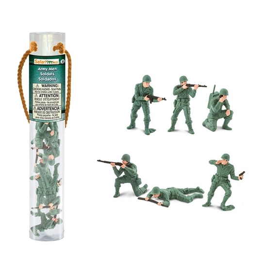 Safari Ltd 678604 żołnierzyki w tubie