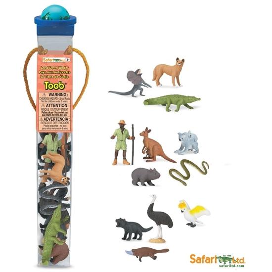Safari Ltd 681404 zwierzęta australijskie 12 szt. w tubie