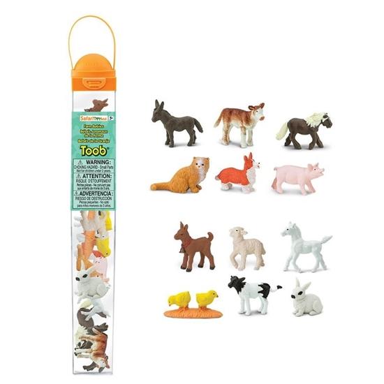 Safari Ltd 681204 zwierzęta farmerskie młode  w tubie