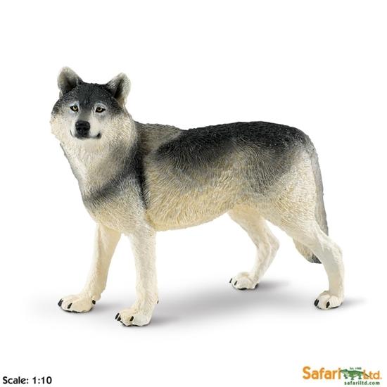 XL Safari Ltd 112689 Wilk  skala 1:10   13,5 x 6 x7,5cm