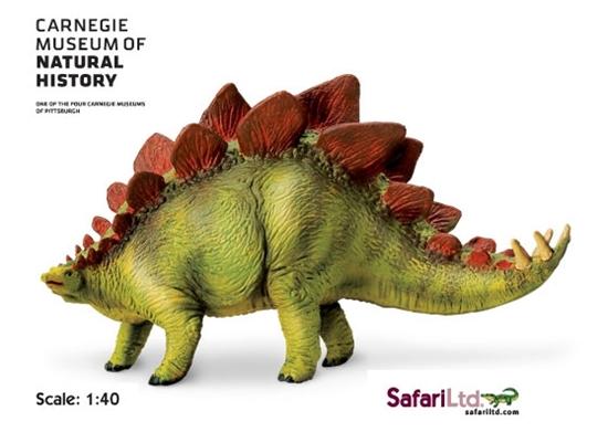 Safari Ltd 411901 Dinozaur Stegozaur  1:40  15x9cm  Carnegie