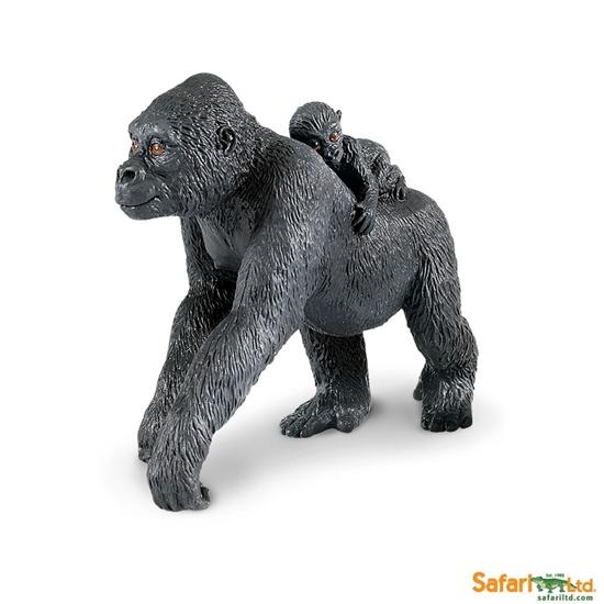 Safari Ltd 294729 Goryl nizinny z młodym  10,5x4,5x8,5cm