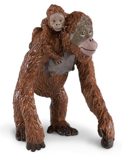 Safari Ltd 293529 Orangutan z młodym  7,5 x9cm