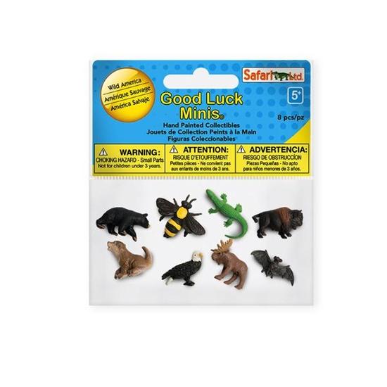 Safari Ltd 349922 zwierz. Ameryki Północnej mini 8szt.