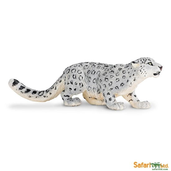 Safari Ltd 237529 Lampart śnieżny  14 x 4,5cm