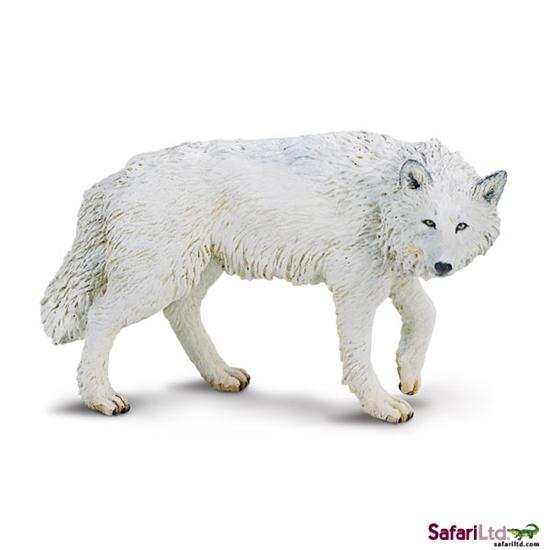 Safari Ltd 220029 Wilk biały polarny  9,5x6,5cm
