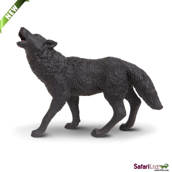 Safari Ltd 181129 Wilk czarny  9,5x7cm