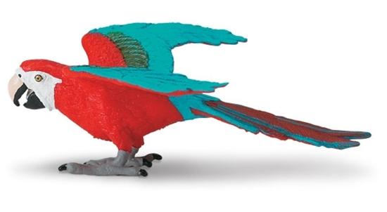 Safari Ltd 263929 Ara czerwona - papuga  11,5 x9cm