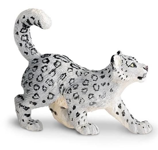Safari Ltd 237629 Pantera śnieżna młoda   7x5cm