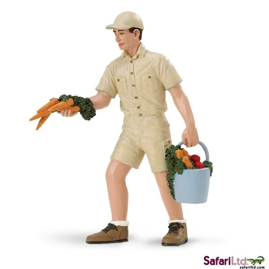 Safari Ltd 297729 Opiekun zwierząt John z marchwią  4x9,5cm