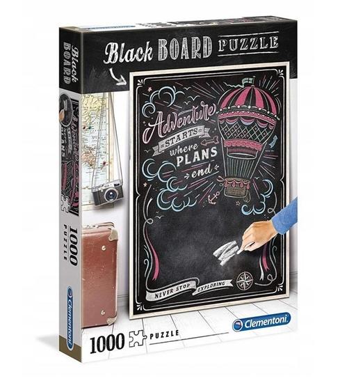 Puzzle 1000 Black board Travel (39478 CLEMENTONI)