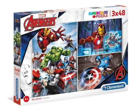 Clementoni Puzzle 3x48el The Avengers 25203 p6, cena za 1szt. (25203 CLEMENTONI)