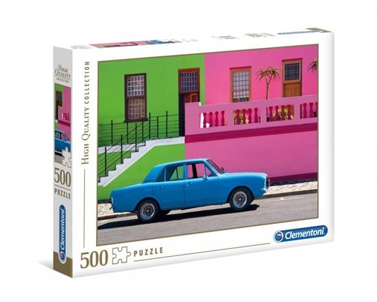Puzzle 500 elementów HQ The Blue Car (GXP-725414)