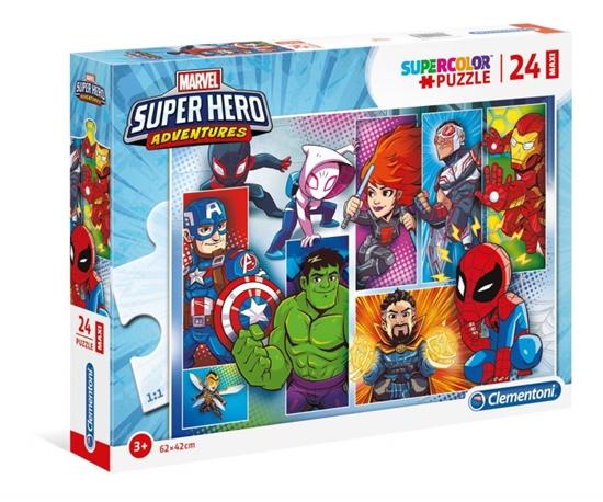 Puzzle 24 elementów Maxi Superhero (GXP-725396)