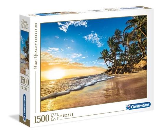 Clementoni Puzzle 1500el HQ  Tropical sunrise 31681 p6, cena za 1szt. (31681 CLEMENTONI)