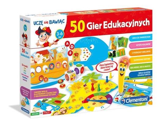 Clementoni quiz Mówiące pióro 50 gier edukacyjnych (60472 CLEMENTONI)