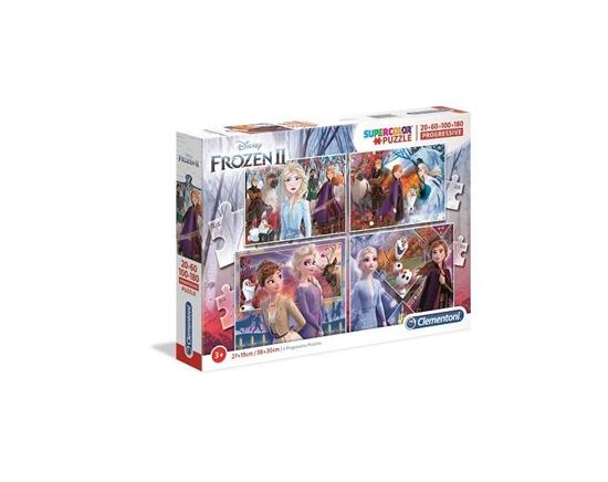 Puzzle 20+60+100+180 Progressive Superkolor Frozen (21411 CLEMENTONI)