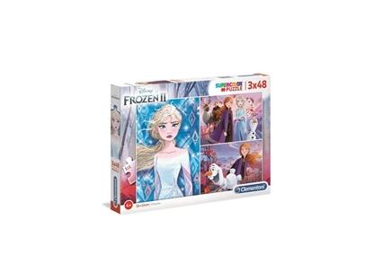 Puzzle 3x48 Super kolor Frozen 2 (25240 CLEMENTONI)