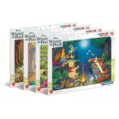 Puzzle ramkowe 15 Super kolor Winnie the pooh (22231 CLEMENTONI)