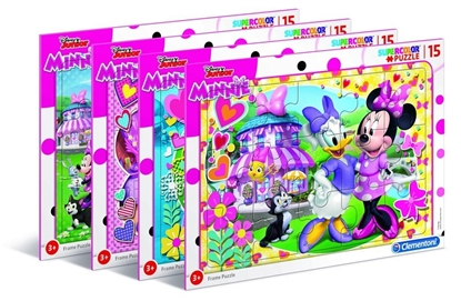 Puzzle ramkowe 15 Super kolor Minnie happy helpers (22230 CLEMENTONI)