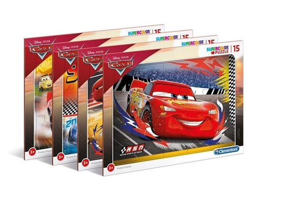Puzzle ramkowe 15 Super kolor Cars (22232 CLEMENTONI)