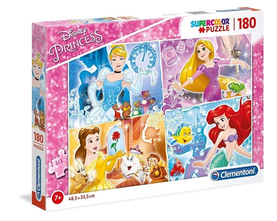Puzzle 180 Super kolor Princess (29294 CLEMENTONI)