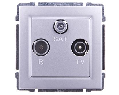 KOS66 Gniazdo antenowe RTV/SAT końcowe aluminium 664076