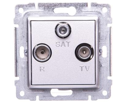 VENA Gniazdo antenowe RTV/SAT końcowe aluminium 514076