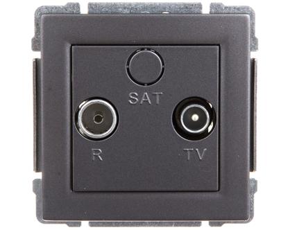 KOS66 Gniazdo antenowe RTV końcowe grafit 666073