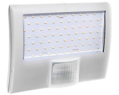 Projektor LED z czujnikiem ruchu i zmierzchu 8 metrów 10,5W 160 stopni 230-240V 50Hz IP44 biała XLED HOME CURVEDB 012083