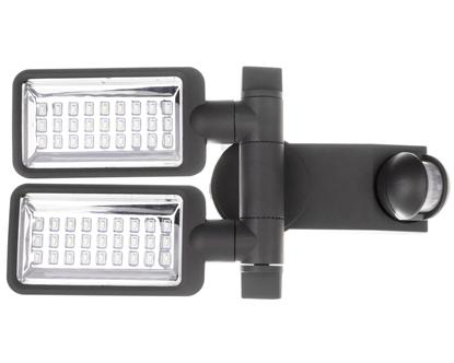 Projektor LED Duo Premium City SV 5405 PIR IP44 31W 54xled 2160lm 6400K z czujnikiem ruchu klosz przezroczysty 1179650