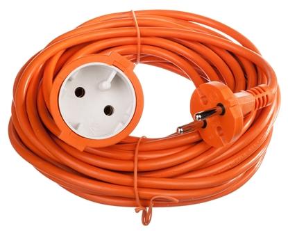 Przedłużacz ogrodowy 1-gniazdo b/u 10m /H05VV-F 2x1/ pomarańczowy P01310