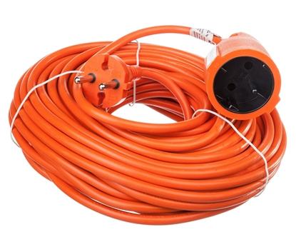 Przedłużacz ogrodowy 1-gniazdo b/u 20m /H05VV-F 2x1/ pomarańczowy P01320