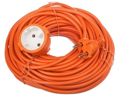 Przedłużacz ogrodowy 1-gniazdo b/u 30m /H05VV-F 2x1/ pomarańczowy P01330
