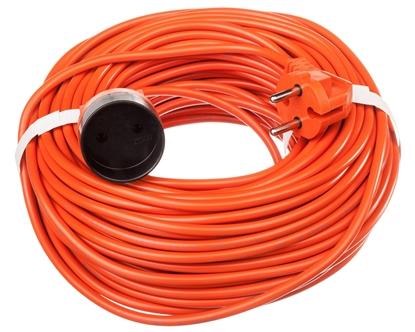 Przedłużacz ogrodowy 1-gniazdo b/u 40m /H05VV-F 2x1/ pomarańczowy P01340