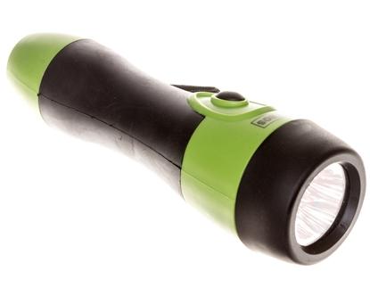 Latarka gumowana LEDx5 40lm 2xR20 zielono-czarna P3865