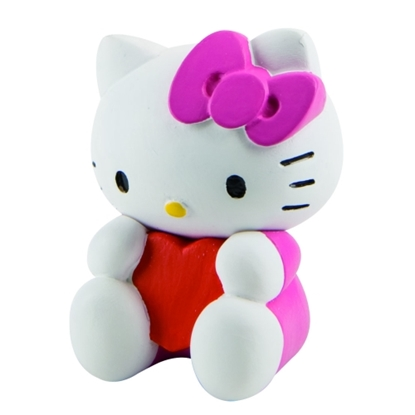 BULLYLAND 53454 HELLO KITTY VALENTYNKA  5cm