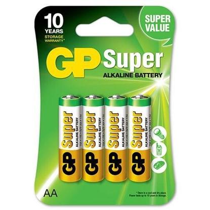 4 x bateria alkaliczna GP Super Alkaline LR6 / AA