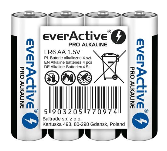 4 x baterie alkaliczne everActive Pro LR6 / AA (taca)
