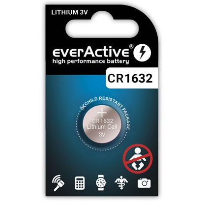 1 x bateria litowa mini everActive CR1632