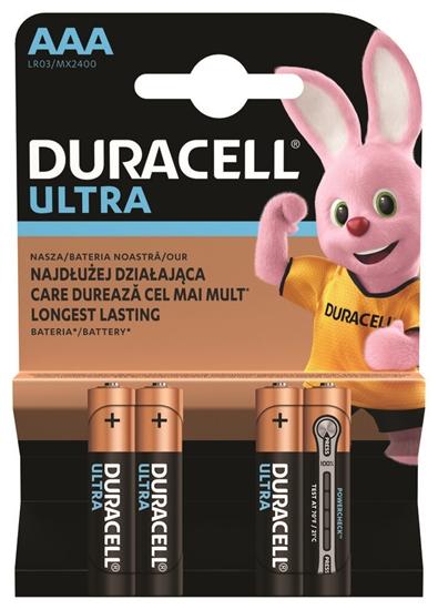 4 x bateria alkaliczna Duracell Ultra Powercheck LR03 AAA (blister)