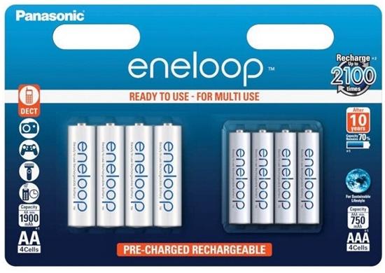 Akumulatorki MIX 4 x R6/AA + 4 x R03/AAA Panasonic Eneloop BK-KJMCCE44E 8BE (blister)