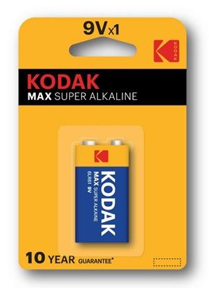 1 x KODAK Max Alkaline 6LR61 / 9V (blister)