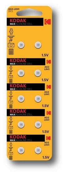 10 x bateria alkaliczna mini KODAK G3 / AG3 / L736 / 192 / LR41