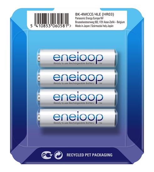 4 x Panasonic Eneloop R03/AAA 800mAh BK-4MCCE (sliding pack)