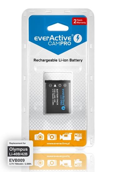 Akumulator everActive CamPro - zamiennik do aparatu fotograficznego LI-42B/LI-40B/NP-80/NP-45/EN-EL10/KLIC7006/D-LI63...