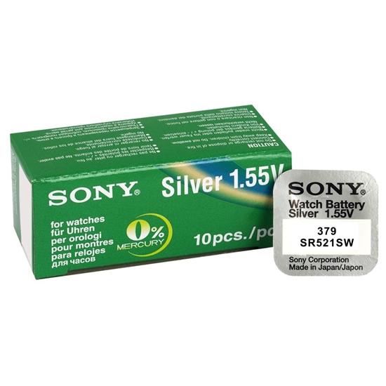 10 x bateria srebrowa mini Sony 379 / SR521SW / SR63