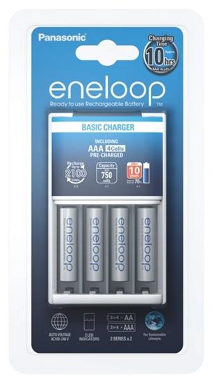 Ładowarka akumulatorków Ni-MH Panasonic Eneloop BQ-CC51 + 4 x R03/AAA Eneloop 800mAh BK-4MCCE